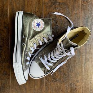 Gold High Top Converse